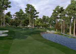 Golf O Max - Vue du vert