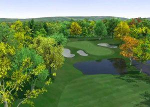 Golf O Max à Boucherville - Parcours de golf en automne